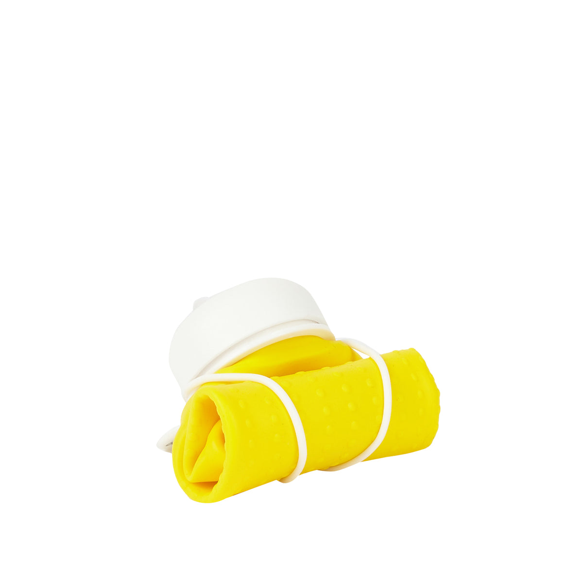 Rolla Bottle - Yellow, White Lid + White Strap - rolled