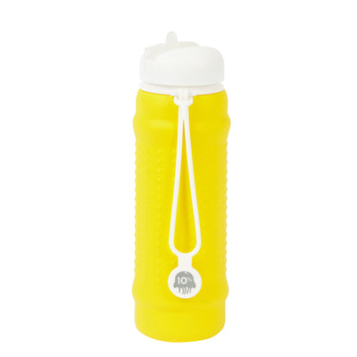 Rolla Bottle - Yellow, White Lid + White Strap