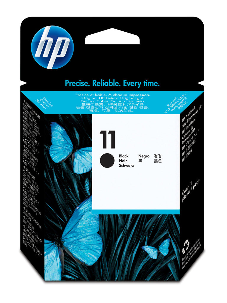 Cabezal Original HP 11 - C4810A Negro Impresoras HP compatibles Business Inkjet 1000, 1100, 1200d, 2200, 2230, 2250, 2280, 2300, 2600, 2800, Color Inkjet CP 1700, CP1700, DesignJet 100, 100plus, 110, 110plus, 111, 500, 500PS, 510, 70, 800, 800PS, 815MFP, 820MFP, cc800ps, OfficeJet 9110, 9120, 9130, Pro K850, K850dn