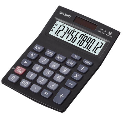 Calculadora 12 Digitos Casio MX-120 S Negra
