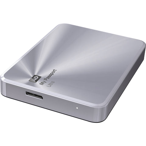 Disco duro externo Western Digital My Passport Ultra Metal Edition, 1 TB, USB 3.0, Plateado