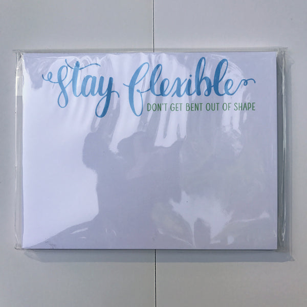 Stay Flexible Paper Pad