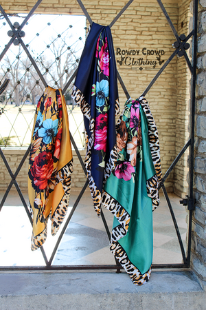 Fiesty Floral Wild Rags