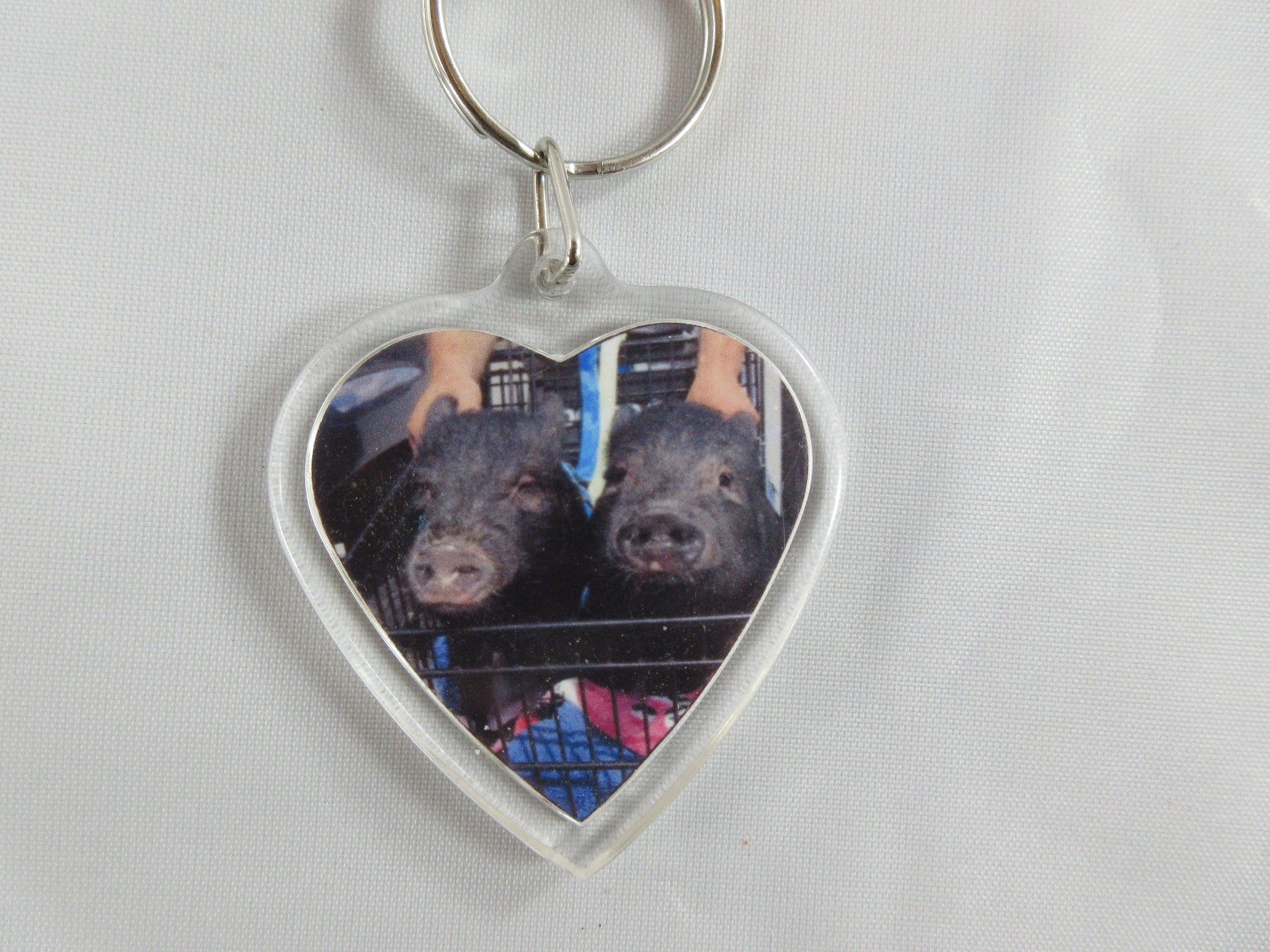 Heart Shaped Key Chain - Penny and Hoover's Pig Pen
