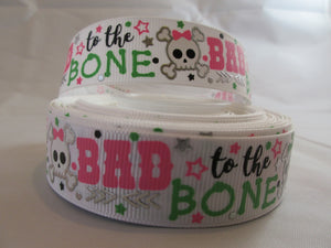 "1"" Bad to the Bone Dog Collar - Penny and Hoover's Pig Pen"