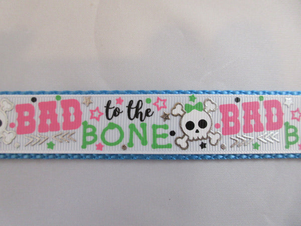 "1"" Bad to the Bone Leash - Penny and Hoover's Pig Pen"
