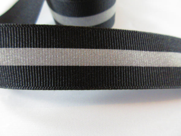 "3/4"" Black Reflective Dog Collar - Penny and Hoover's Pig Pen"