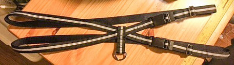 "1"" Black Reflective Pig Harness - Penny and Hoover's Pig Pen"