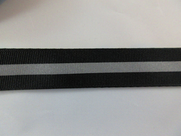 "1"" Black Reflective Dog Collar - Penny and Hoover's Pig Pen"