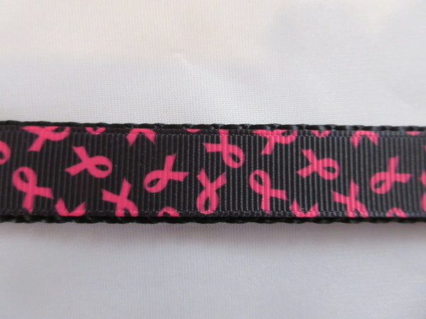 "3/4"" Black and Pink Breast Cancer Awareness Pig Harness - Penny and Hoover's Pig Pen"
