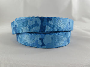 "5/8"" Blue Bones Camo Leash - Penny and Hoover's Pig Pen"