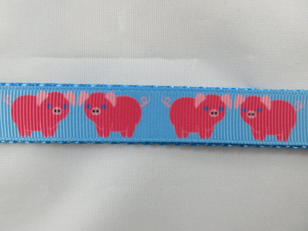 "3/4"" Blue Pigs Leash - Penny and Hoover's Pig Pen"