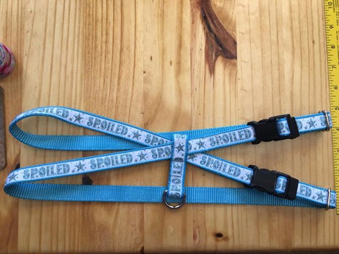 "1"" Blue Spoiled Pig Harness - Penny and Hoover's Pig Pen"