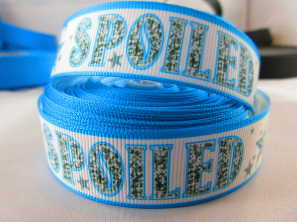 "1"" Blue Spoiled Dog Collar - Penny and Hoover's Pig Pen"