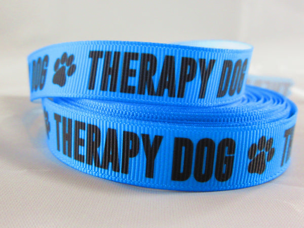 "3/4"" Blue Therapy Dog Dog Collar - Penny and Hoover's Pig Pen"