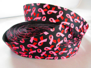 "1"" Breast Cancer Awareness Dog Collar - Penny and Hoover's Pig Pen"