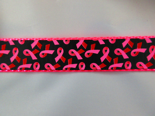 "1"" Breast Cancer Awareness Leash - Penny and Hoover's Pig Pen"