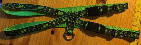 "1"" Clovers in the Wind Pig Harness - Penny and Hoover's Pig Pen"