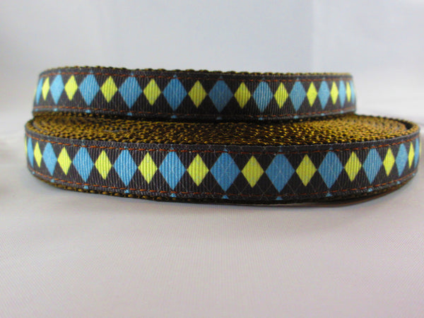 "1"" Country Club Argyle Dog Collar - Penny and Hoover's Pig Pen"