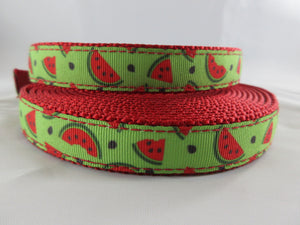 "3/4"" Crisp Watermelon Leash - Penny and Hoover's Pig Pen"