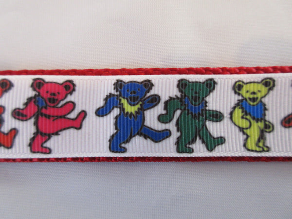 "1"" Dancing Bears Dog Collar - Penny and Hoover's Pig Pen"