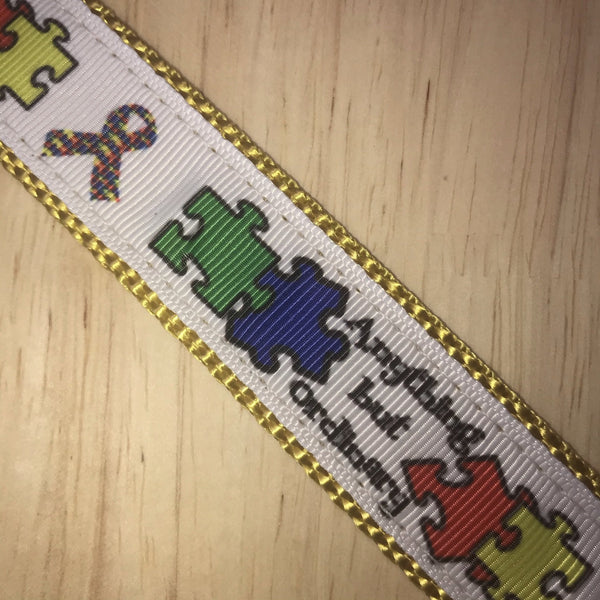 "1"" Autism Awareness Dog Collar"