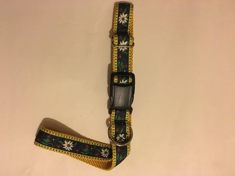 "1"" Edelweiss Dog Collar - Penny and Hoover's Pig Pen"
