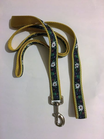 "1"" Edelweiss Leash - Penny and Hoover's Pig Pen"