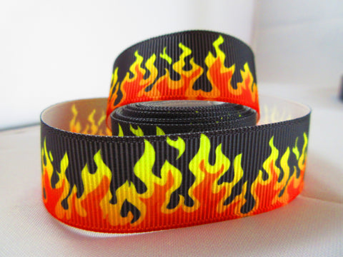 "1"" Flames Dog Collar - Penny and Hoover's Pig Pen"