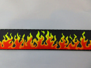 "1"" Flames Leash - Penny and Hoover's Pig Pen"