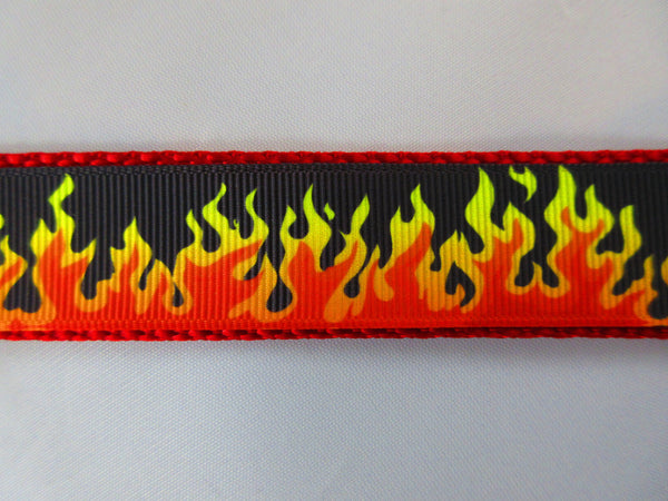 "3/4"" Flames Dog Collar - Penny and Hoover's Pig Pen"