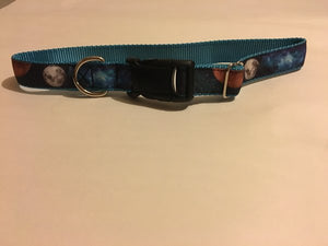 "1"" Galactic Neighbors Dog Collar - Penny and Hoover's Pig Pen"