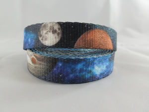 "5/8"" Galactic Neighbors Dog Collar - Penny and Hoover's Pig Pen"