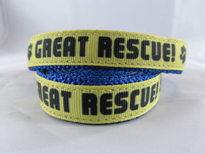 "3/4"" Great Rescue Leash - Penny and Hoover's Pig Pen"