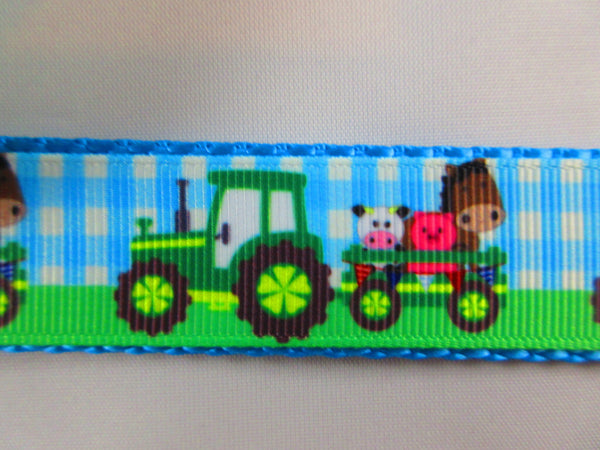 "1"" Green Farm Tractors Pig Harness - Penny and Hoover's Pig Pen"