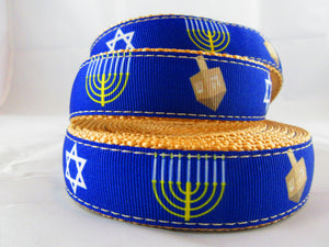 "1"" Hanukkah Leash - Penny and Hoover's Pig Pen"