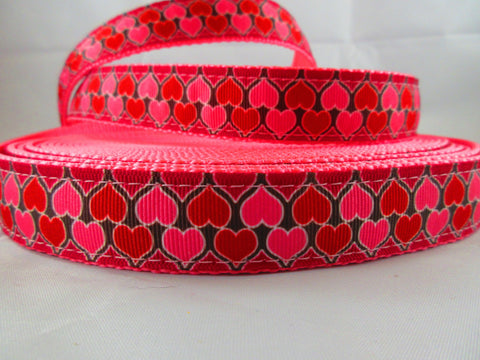 "1"" Hearts on Parade Dog Collar - Penny and Hoover's Pig Pen"