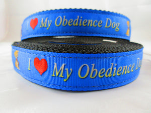 "1"" I Love my Obedience Dog Leash - Penny and Hoover's Pig Pen"