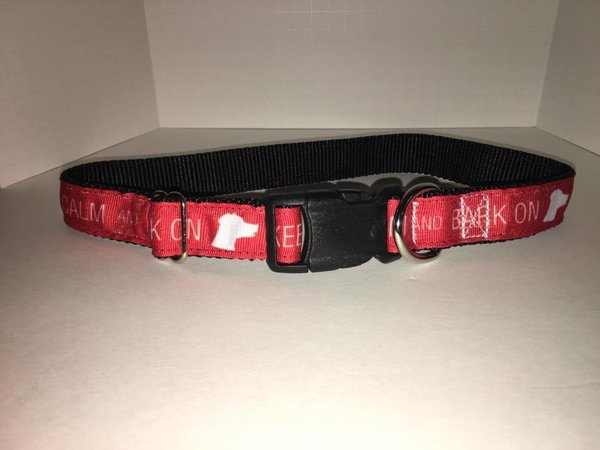 "3/4"" Keep Calm and Bark On Dog Collar - Penny and Hoover's Pig Pen"