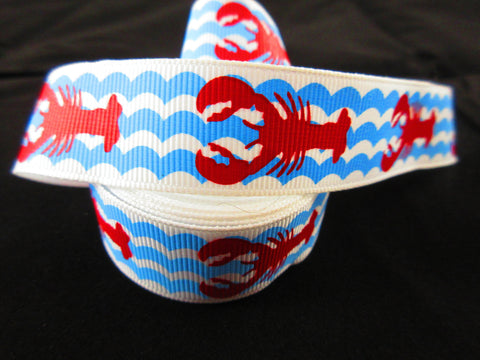 "1"" Lobster Waves Leash - Penny and Hoover's Pig Pen"