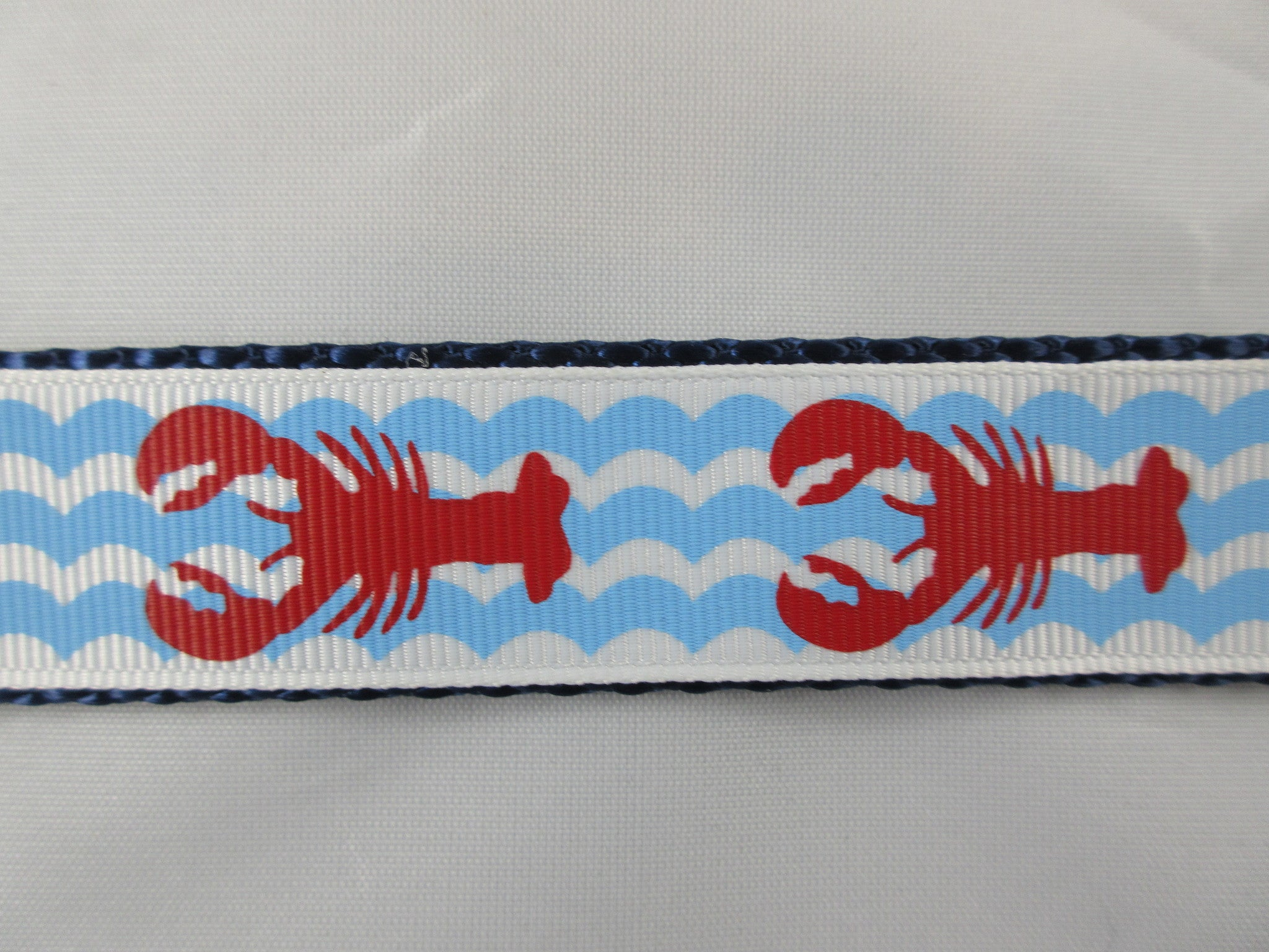 "1"" Lobster Waves Dog Collar - Penny and Hoover's Pig Pen"