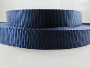 "1"" Navy Blue Nylon Dog Collar - Penny and Hoover's Pig Pen"