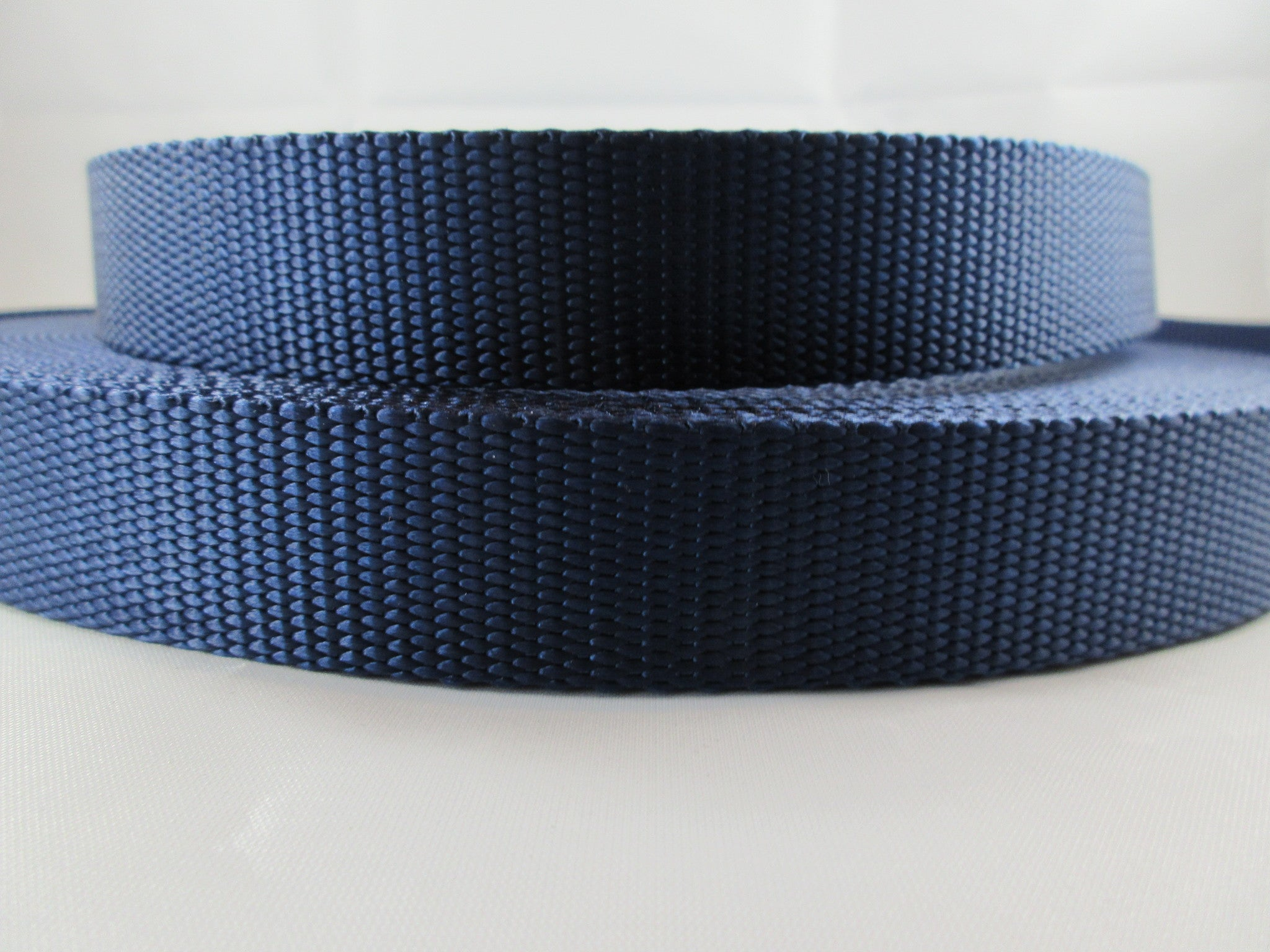 "1"" Navy Blue Nylon Leash - Penny and Hoover's Pig Pen"