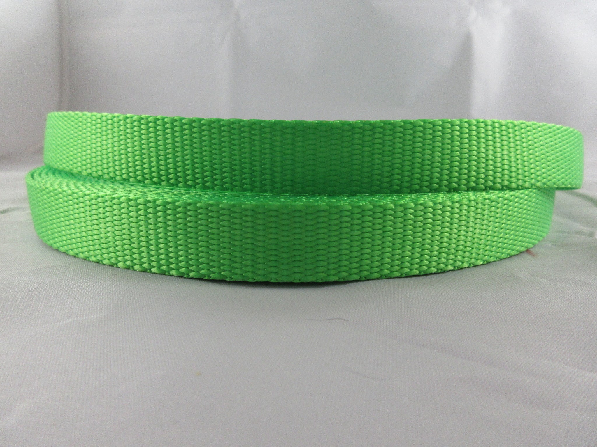 "3/4"" Neon Green Nylon Leash - Penny and Hoover's Pig Pen"