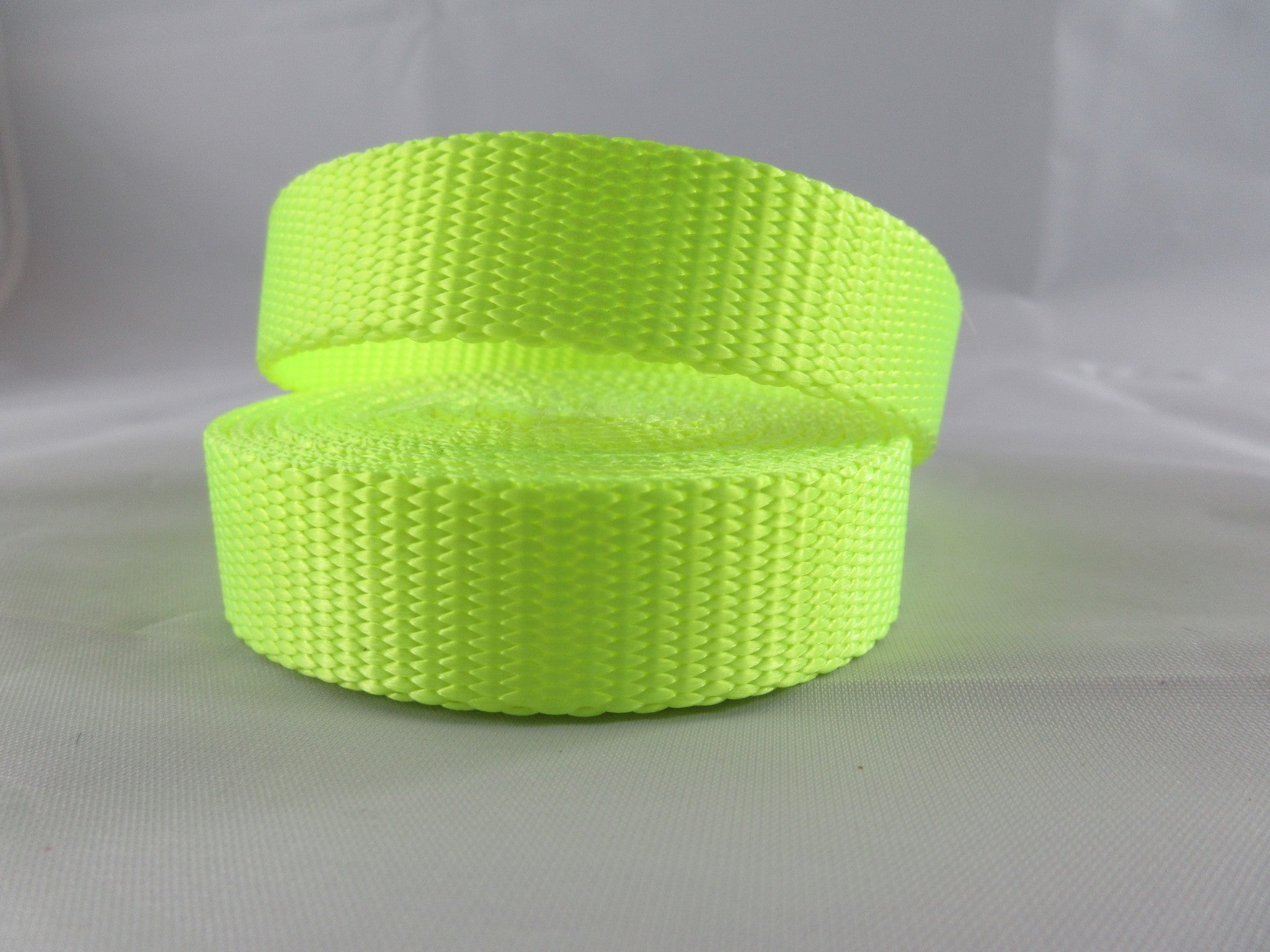 "3/4"" Neon Yellow Nylon Dog Collar - Penny and Hoover's Pig Pen"