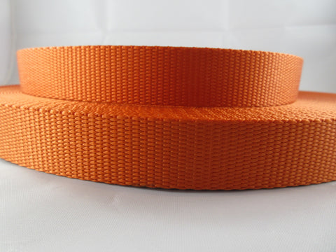 "1"" Orange Nylon Leash - Penny and Hoover's Pig Pen"