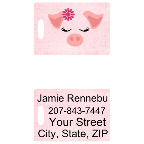 Pig Face Luggage Tag - Penny and Hoover's Pig Pen