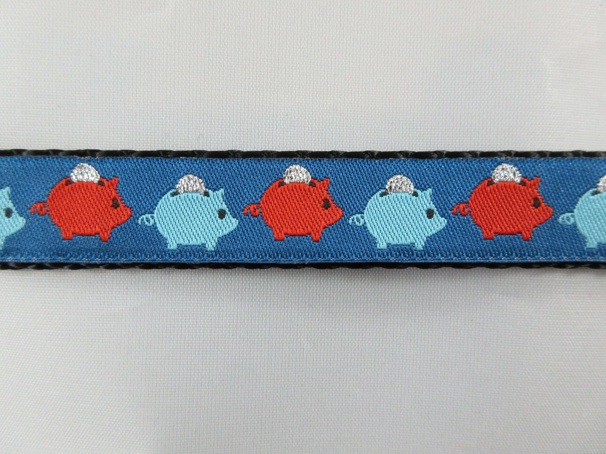 "3/4"" Piggy Bank Dog Collar - Penny and Hoover's Pig Pen"