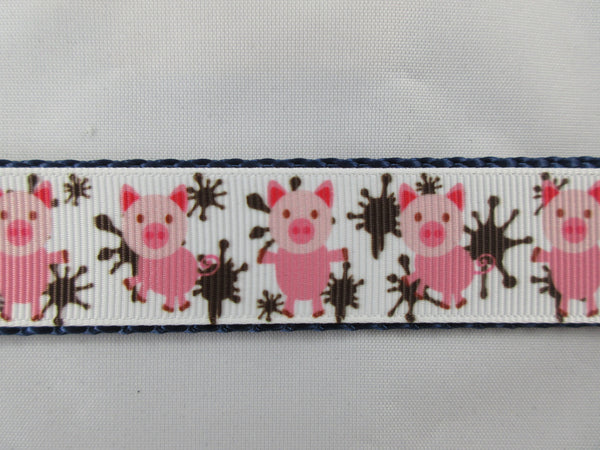 "3/4"" Pigs in Mud Leash - Penny and Hoover's Pig Pen"
