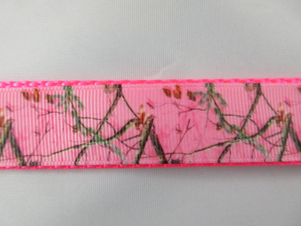 "1"" Pink Real Tree Camo Dog Collar - Penny and Hoover's Pig Pen"